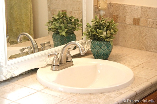 bathroom faucet install after