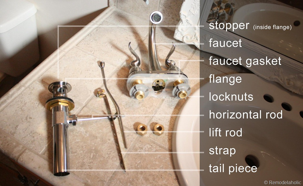 Sink Faucet Parts Names Bathroom faucet install image