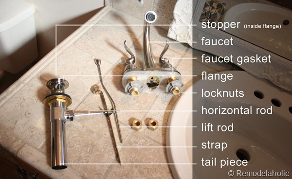 bathroom sink parts names bathroom faucet install 16542