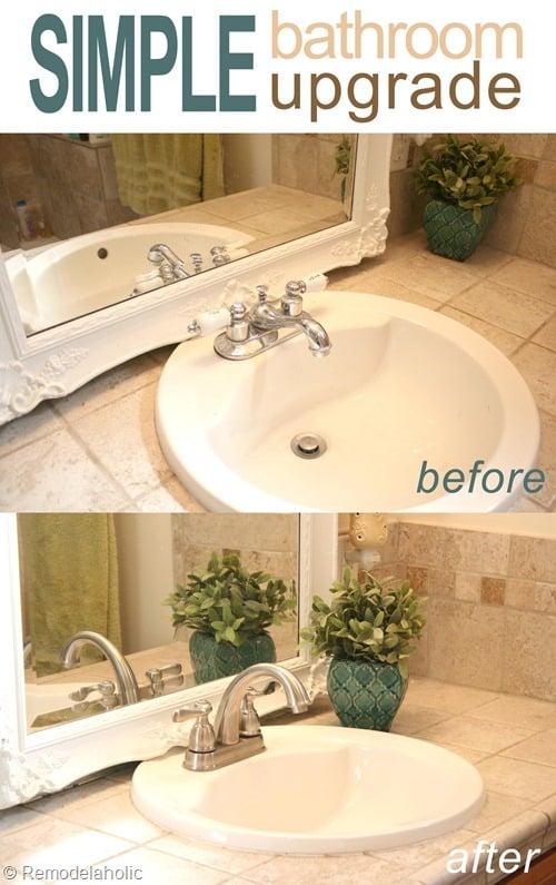 Stunning bathroom faucet install pin button