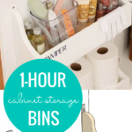 Build 2 Under Sink Cabinet Storage Bins From One Board In An Hour #remodelaholic