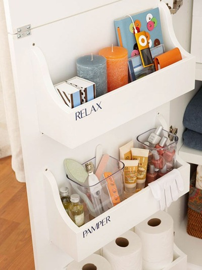 cabinet door storage bins
