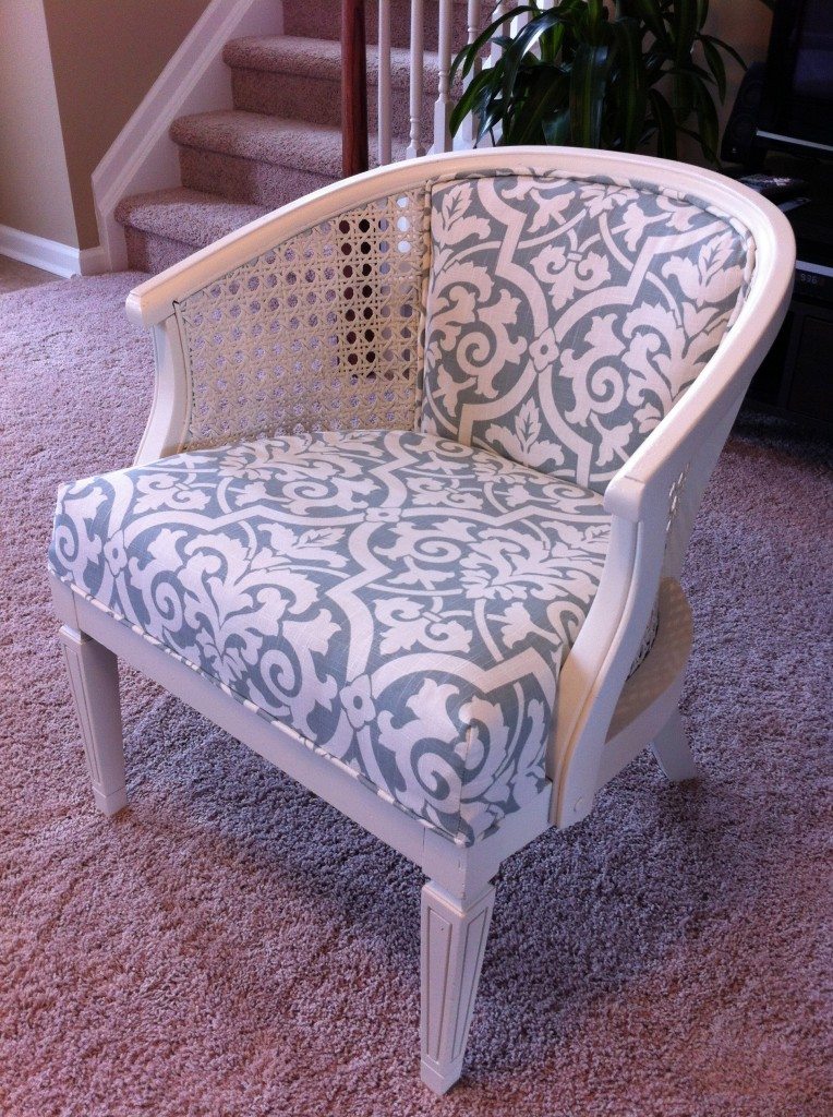 You  Remodelaholic   Cane Chair Reupholster DIY. Reupholster Chairs Diy. Home Design Ideas