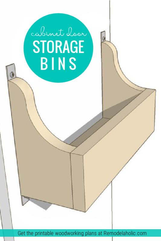 Diy Wood Cabinet Door Storage Bins, Easy To Build, Remodelaholic