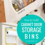 How To Build Cabinet Door Storage Bins For Under Sink Storage In Bathroom And Kitchen Cabinets #remodelaholic