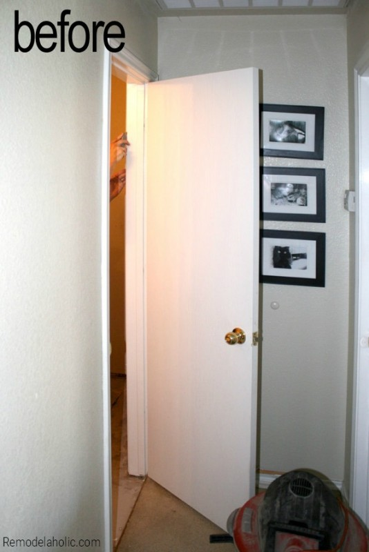 How To Install A Pocket Door by Remodelaholic