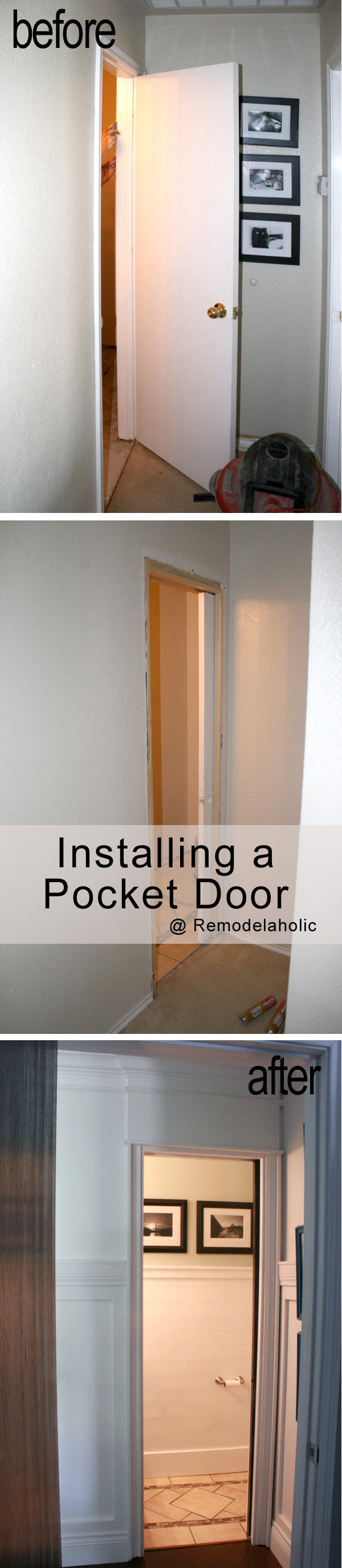 Bathroom pocket doors - Remember