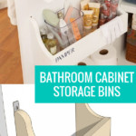 Under Sink Bathroom Cabinet Door Storage Bins, Woodworking Plans At Remodelaholic