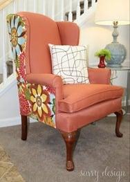 wingback chair tutorial reupholster reupholstering remodelaholic.com
