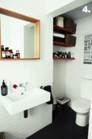 Half Bath Makeover And Floating Shelf, Design Sponge Bathrooms
