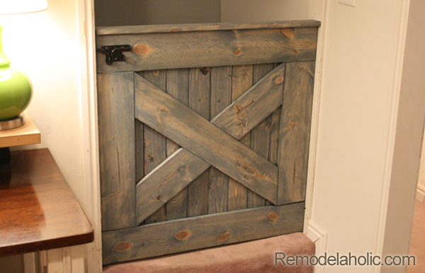 Barn Door Baby Gate for Stairs 2