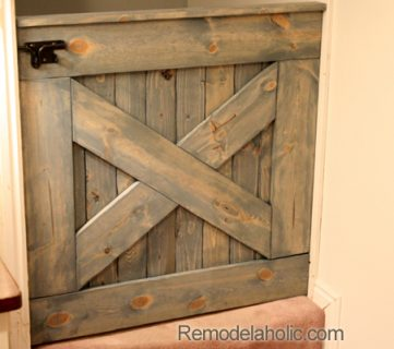 DIY Barn Door Baby Gate