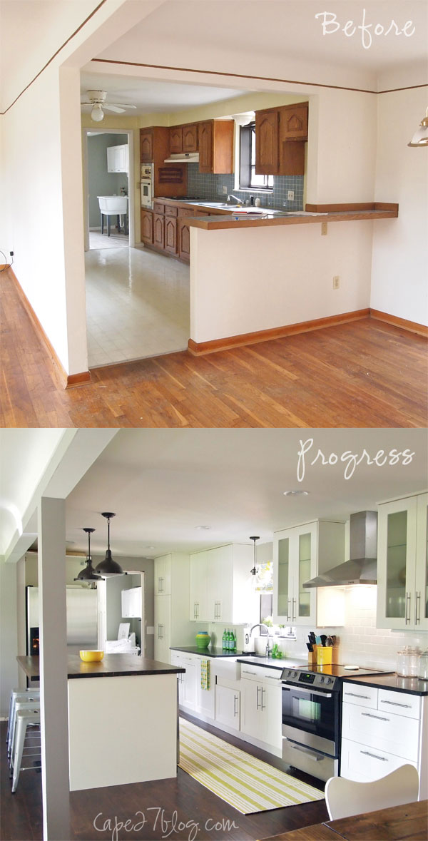remodelaholic light and bright 1950 39 s ranch kitchen makeover