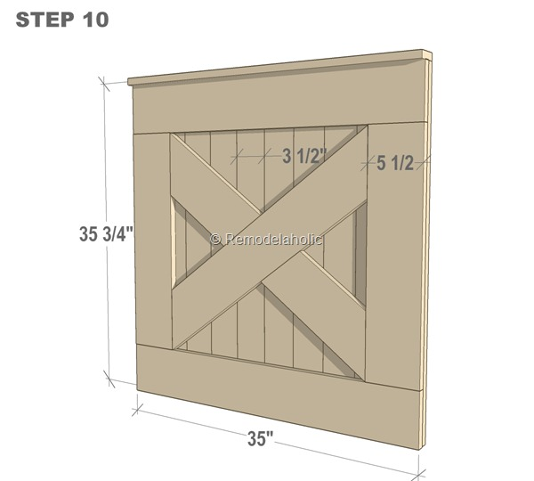DIY Barn Door Baby Gate for Stairs STEP 10