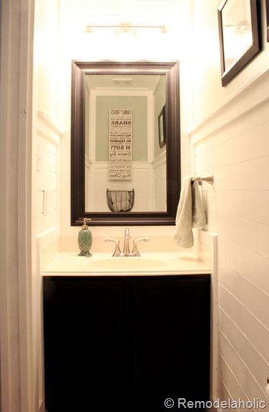 half bathroom reveal