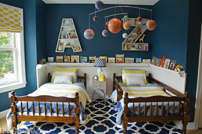 At Home Stories A2Z , the boys room achieves a nautical feel without a ...