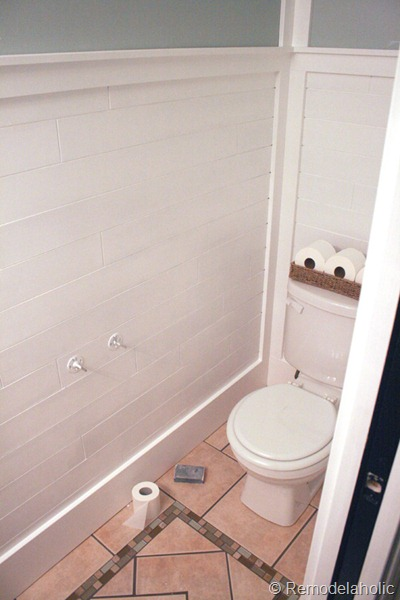 Bathroom Plank Wall: Inexpensive Plank Wall How To