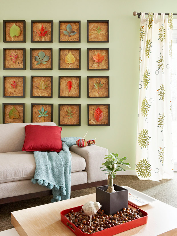 Remodelaholic 25 best autumn leaf crafts Creative wall decor ideas
