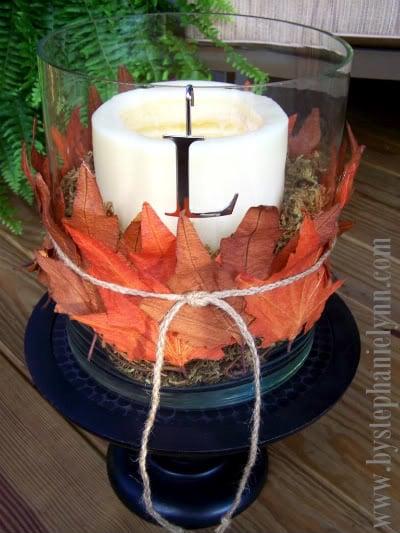 Herbst Laub Tischdeko