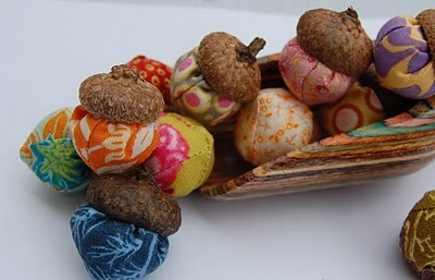 Craft Ideas Acorns on Fabric Acorns From Zemphira