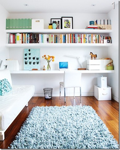 bright office crafting space
