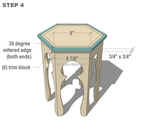 free moroccan side table plans step 4