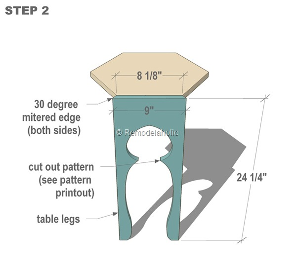 free moroccan side table plans step 2