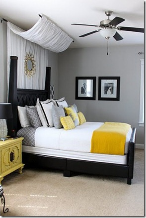Gentil Ideal NmFKBjyc Decor Grey Yellow Bedroom Yellow Gray Interior Design