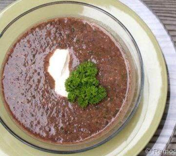 15 Minute Black Bean Soup