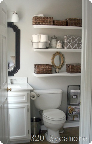 Remodelaholic home sweet home on a budget master baths for Small bathroom designs bloggers