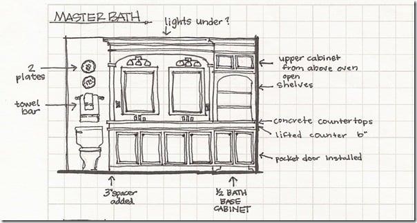 Great Bathroom elevation sketch