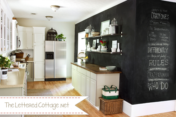 Remodelaholic best paint colors for your home black - Kitchen chalkboard paint ideas ...