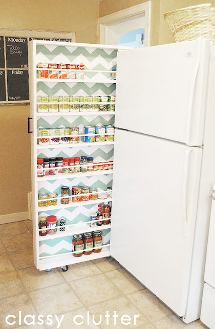 Chevron painted food storage