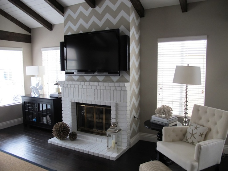 Chevron fireplace
