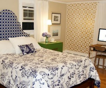 Master Bedroom Makeover and Wall Stencil Tutorial