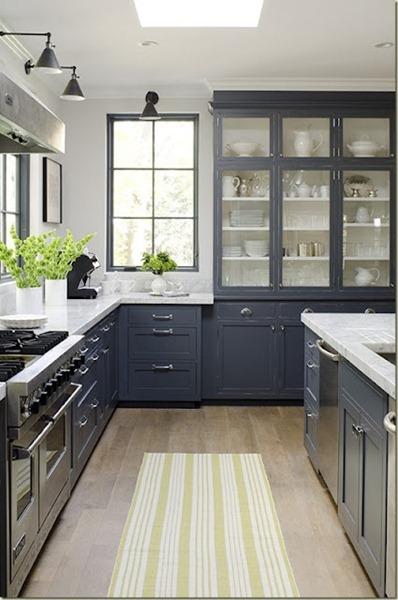 Marvelous Grey kitchen open uppers