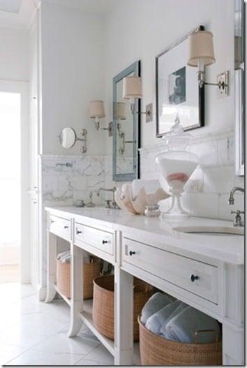 Cool House Beautiful bathroom idea open vanity base