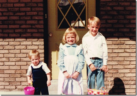 Justin Kristin Greg on Easter , 1979