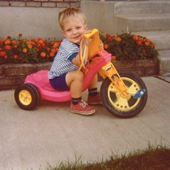 Justin on Big Wheel aug 11, 1979