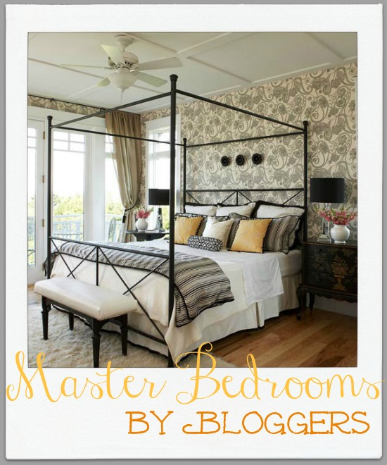Great master bedroom inspiration by bloggers for Beautiful bedroom designs on a budget