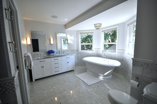 Remodelaholic home sweet home on a budget master baths for Bay window bathroom ideas
