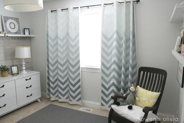 Ombre chevron curtains by owen s olivia as featured at remodelaholic