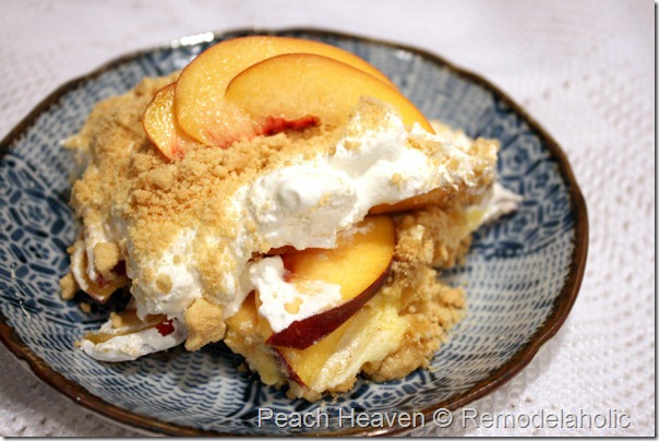 Peach Heaven freash peach dessert