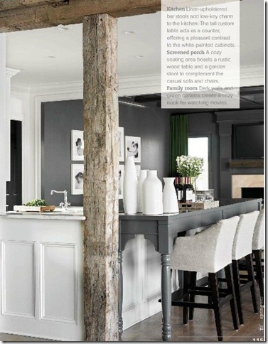 Rustic grey and modern kitchen bar