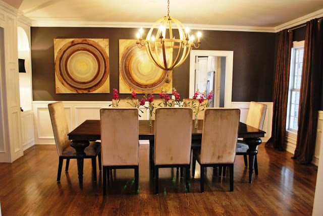 Remodelaholic best paint colors for your home black - Black walls in dining room ...