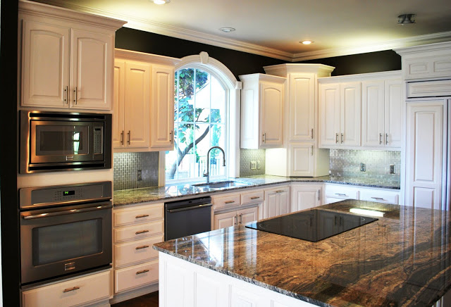 Remodelaholic best paint colors for your home black for Best brand of paint for kitchen cabinets with white butterfly wall art