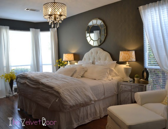 Great Master Bedroom Inspiration By Bloggers: master bedroom with yellow walls