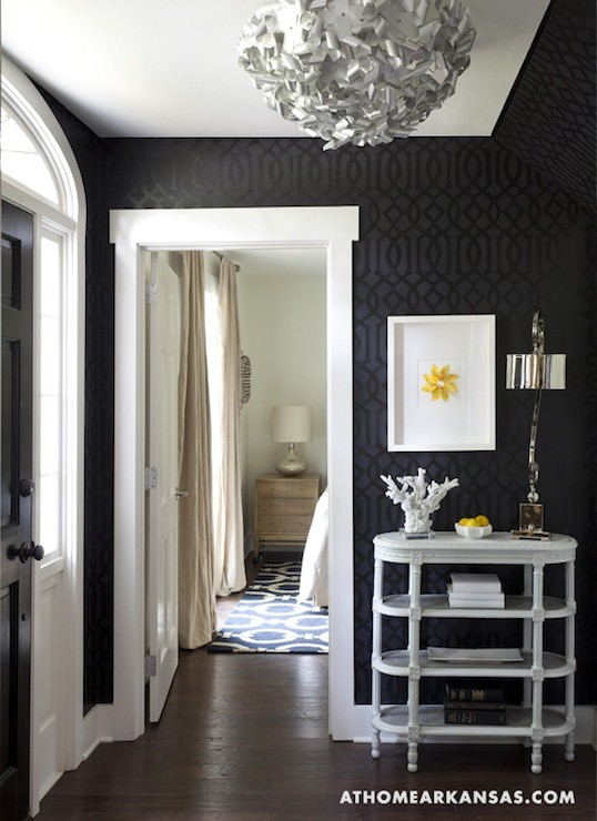 Remodelaholic best paint colors for your home black for Foyer paint color decorating ideas