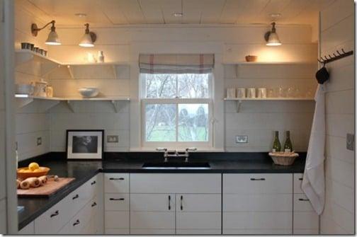 no upper cabinets kitchen
