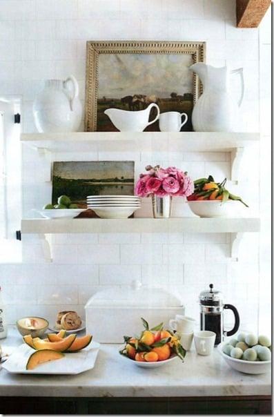 open kitchen shelving
